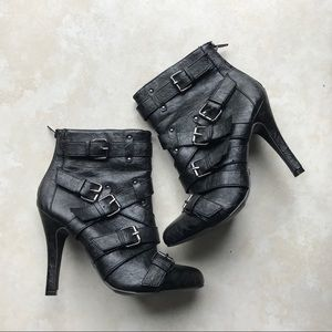 Shoes - CR Luxe Faux leather booties / heels
